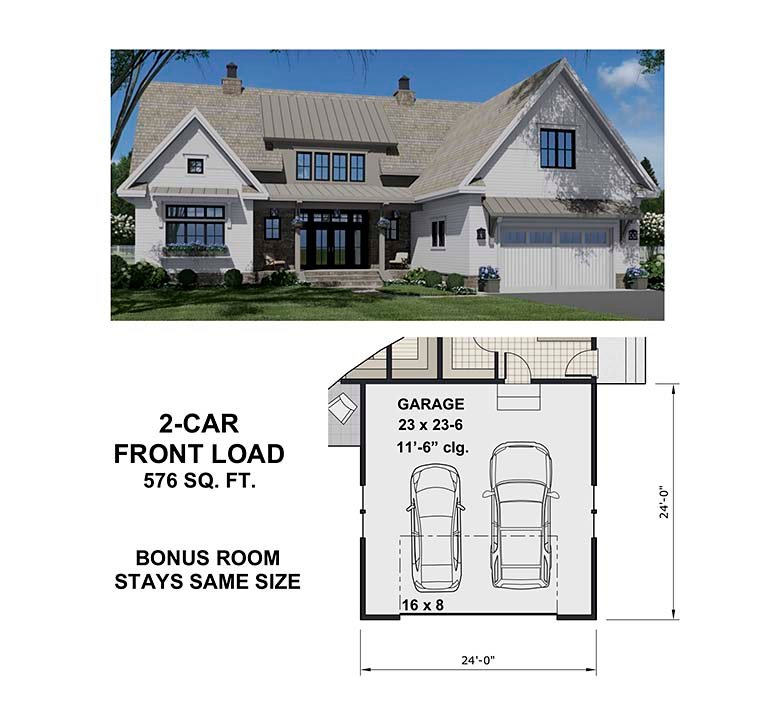 Country Plan with 3319 Sq. Ft., 4 Bedrooms, 5 Bathrooms, 2 Car Garage Picture 6