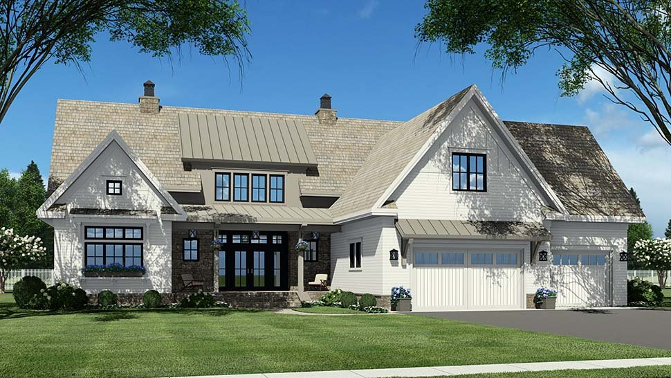 Country Plan with 3319 Sq. Ft., 4 Bedrooms, 5 Bathrooms, 2 Car Garage Picture 7