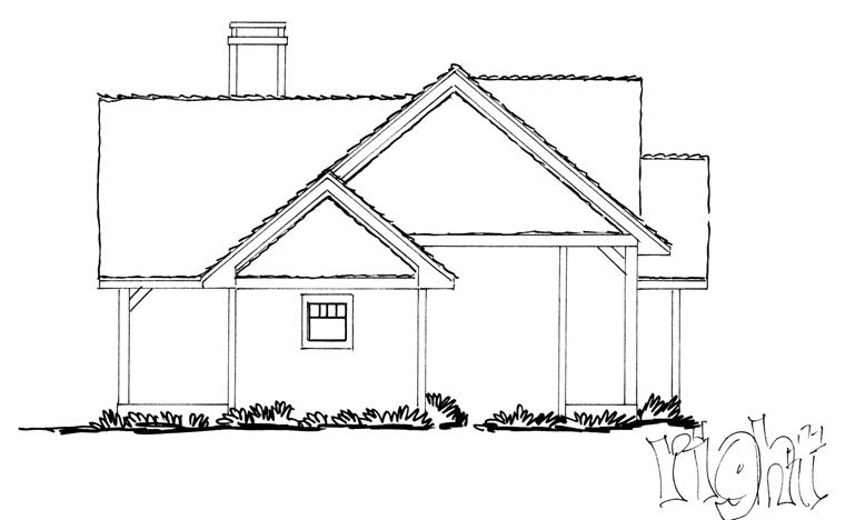 Craftsman, Ranch Plan with 1416 Sq. Ft., 3 Bedrooms, 2 Bathrooms Picture 3