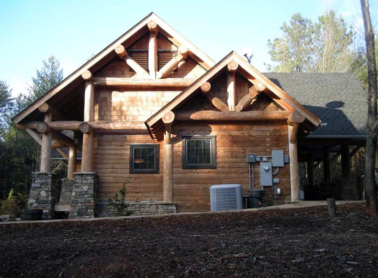 Cabin, Craftsman, Log Plan with 1416 Sq. Ft., 3 Bedrooms, 2 Bathrooms Picture 16