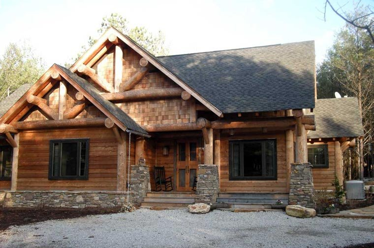 Cabin, Craftsman, Log Plan with 1416 Sq. Ft., 3 Bedrooms, 2 Bathrooms Picture 9