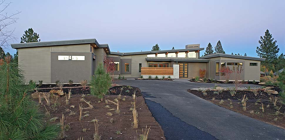 Contemporary, Modern Plan with 3312 Sq. Ft., 3 Bedrooms, 4 Bathrooms, 3 Car Garage Elevation