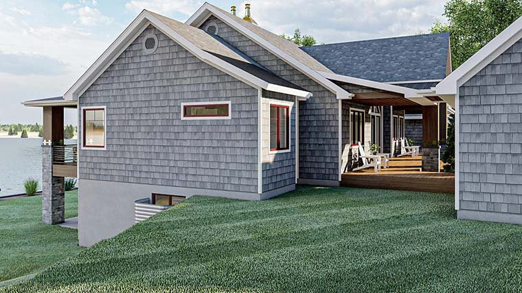 Bungalow, Cottage, Craftsman Plan with 2135 Sq. Ft., 2 Bedrooms, 3 Bathrooms, 4 Car Garage Picture 6