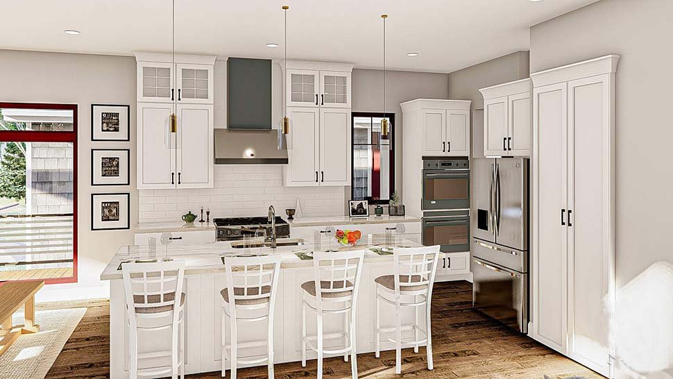 Bungalow, Cottage, Craftsman Plan with 2135 Sq. Ft., 2 Bedrooms, 3 Bathrooms, 4 Car Garage Picture 9