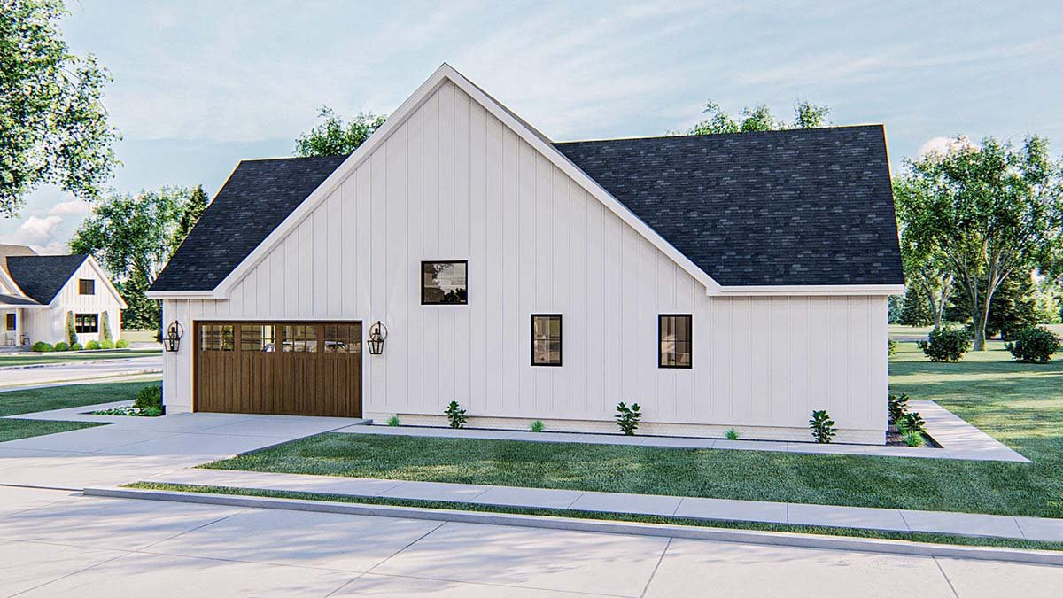 Farmhouse Plan with 2461 Sq. Ft., 4 Bedrooms, 3 Bathrooms, 2 Car Garage Picture 2