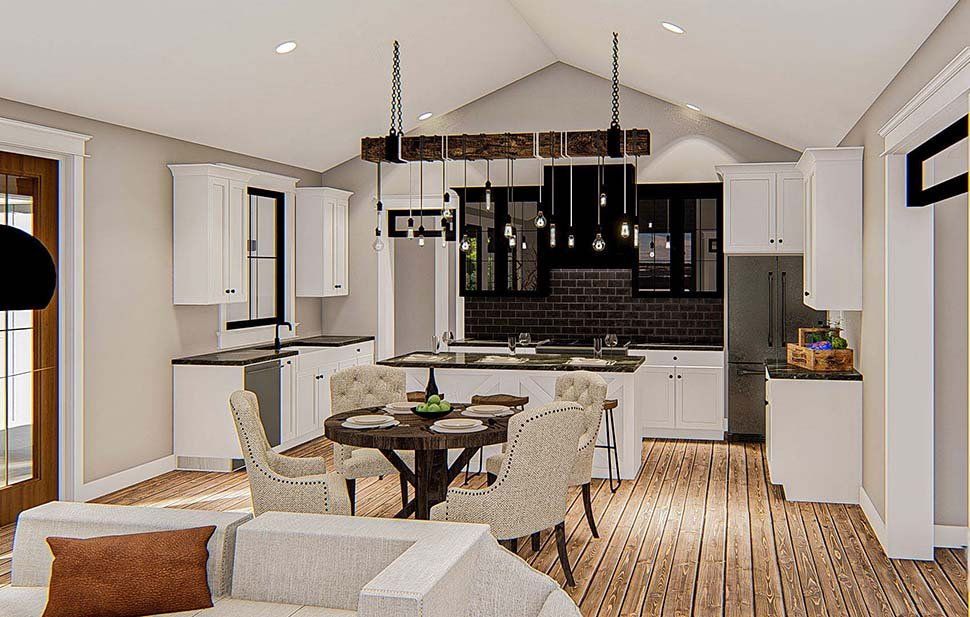 Farmhouse Plan with 2461 Sq. Ft., 4 Bedrooms, 3 Bathrooms, 2 Car Garage Picture 7