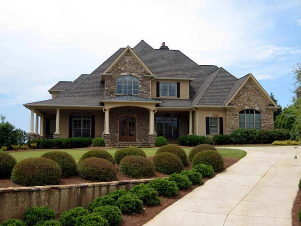 European, Traditional Plan with 4012 Sq. Ft., 4 Bedrooms, 5 Bathrooms, 2 Car Garage Elevation