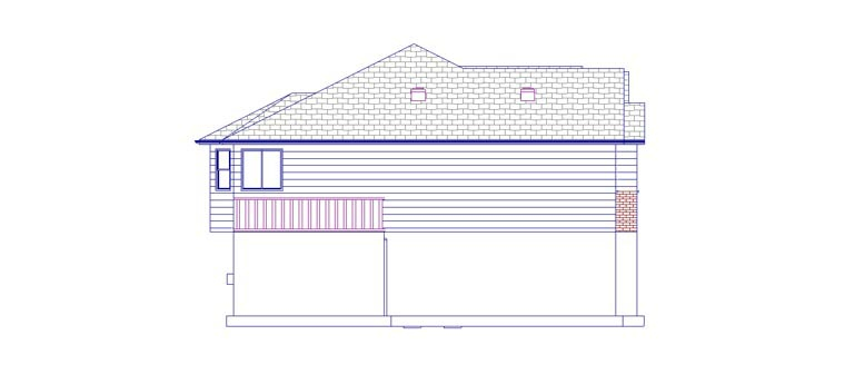 Plan with 3709 Sq. Ft., 5 Bedrooms, 4 Bathrooms, 2 Car Garage Picture 2