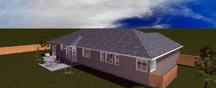 Plan with 3709 Sq. Ft., 5 Bedrooms, 4 Bathrooms, 2 Car Garage Picture 11