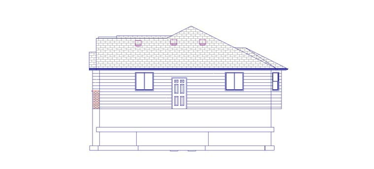 Plan with 3709 Sq. Ft., 5 Bedrooms, 4 Bathrooms, 2 Car Garage Picture 3