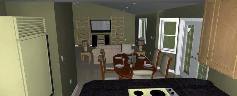 Plan with 3709 Sq. Ft., 5 Bedrooms, 4 Bathrooms, 2 Car Garage Picture 25