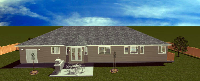 Plan with 3709 Sq. Ft., 5 Bedrooms, 4 Bathrooms, 2 Car Garage Picture 5