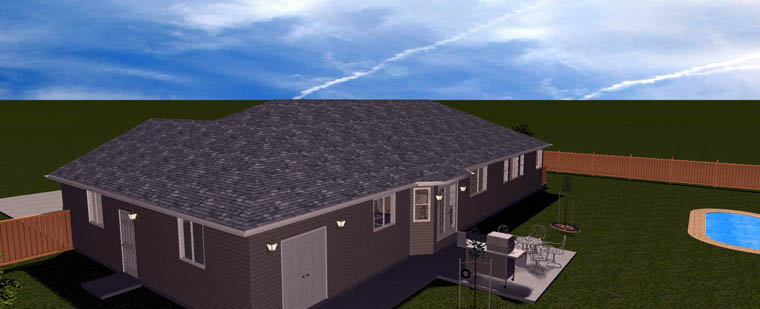Plan with 3709 Sq. Ft., 5 Bedrooms, 4 Bathrooms, 2 Car Garage Picture 10