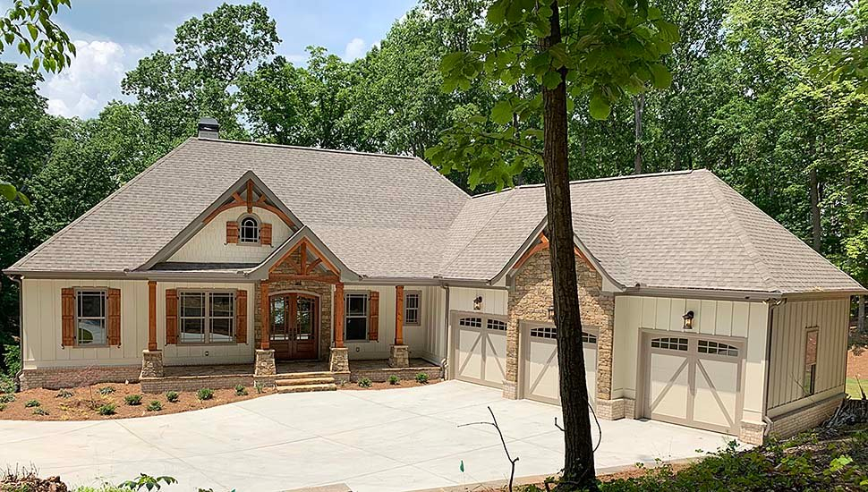 Country, Craftsman, French Country Plan with 3938 Sq. Ft., 4 Bedrooms, 4 Bathrooms, 3 Car Garage Elevation