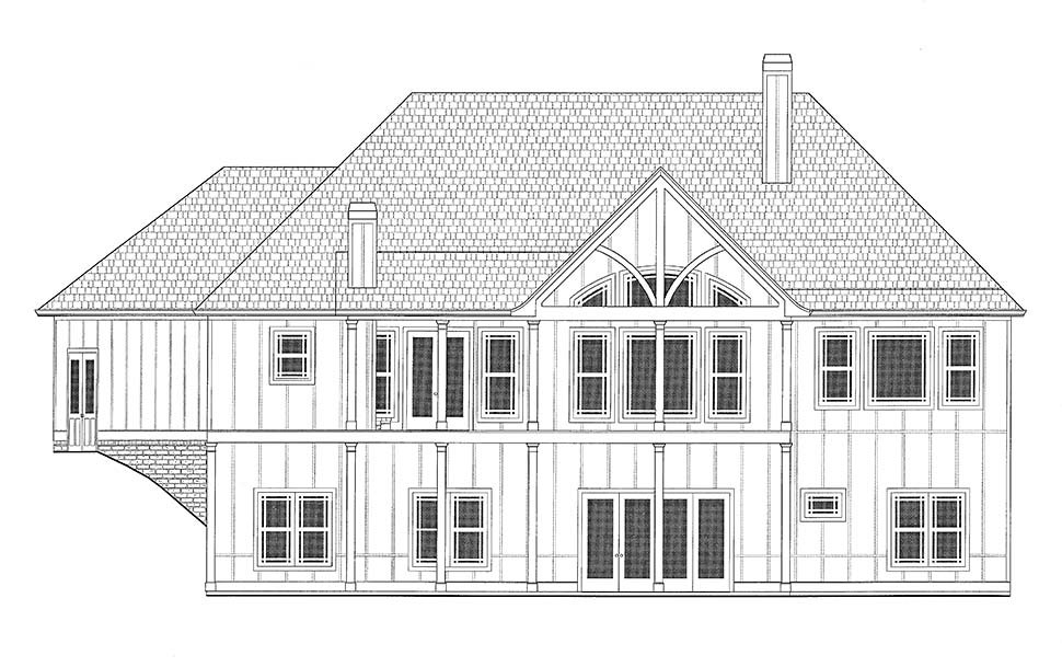 Country, Craftsman, French Country Plan with 3938 Sq. Ft., 4 Bedrooms, 4 Bathrooms, 3 Car Garage Picture 17