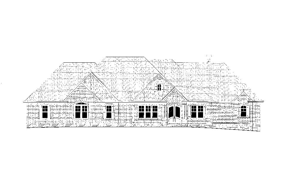 Craftsman, Ranch, Tudor Plan with 3644 Sq. Ft., 4 Bedrooms, 5 Bathrooms, 3 Car Garage Picture 22