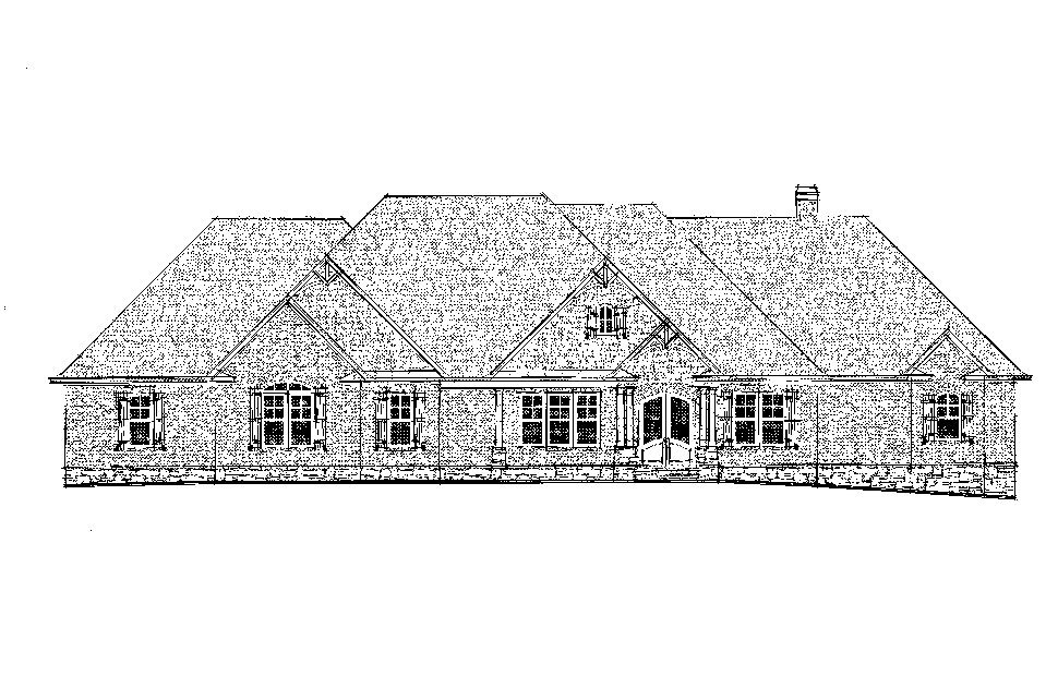 Craftsman, Ranch, Tudor Plan with 3644 Sq. Ft., 4 Bedrooms, 5 Bathrooms, 3 Car Garage Picture 23
