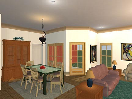 Craftsman, Traditional Plan with 1850 Sq. Ft., 3 Bedrooms, 2 Bathrooms, 2 Car Garage Picture 4