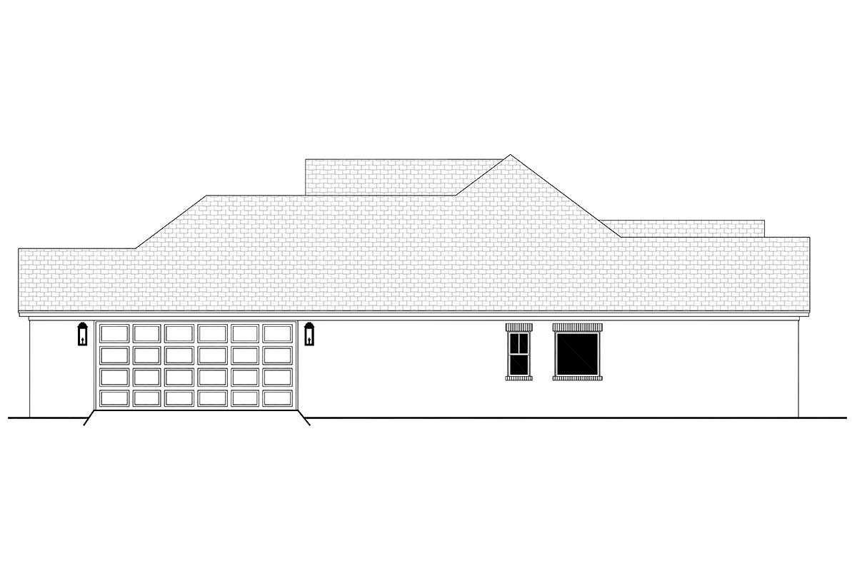 Country, French Country, One-Story, Traditional Plan with 1817 Sq. Ft., 3 Bedrooms, 2 Bathrooms, 2 Car Garage Picture 2