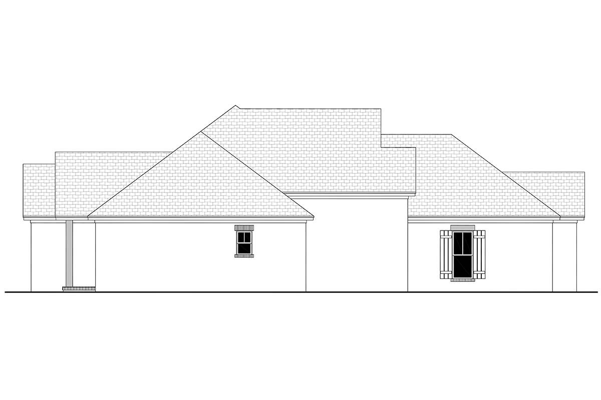 Country, French Country, One-Story, Traditional Plan with 1817 Sq. Ft., 3 Bedrooms, 2 Bathrooms, 2 Car Garage Picture 3