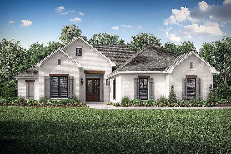 Country, French Country, One-Story, Traditional Plan with 1817 Sq. Ft., 3 Bedrooms, 2 Bathrooms, 2 Car Garage Picture 5