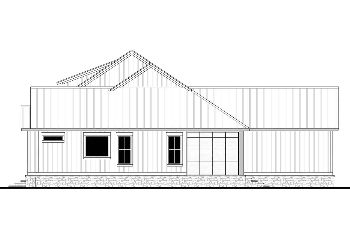Country, Farmhouse, Southern, Traditional Plan with 2589 Sq. Ft., 3 Bedrooms, 3 Bathrooms, 2 Car Garage Picture 2