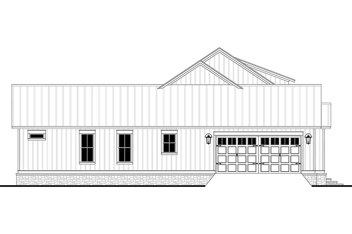 Country, Farmhouse, Southern, Traditional Plan with 2589 Sq. Ft., 3 Bedrooms, 3 Bathrooms, 2 Car Garage Picture 3
