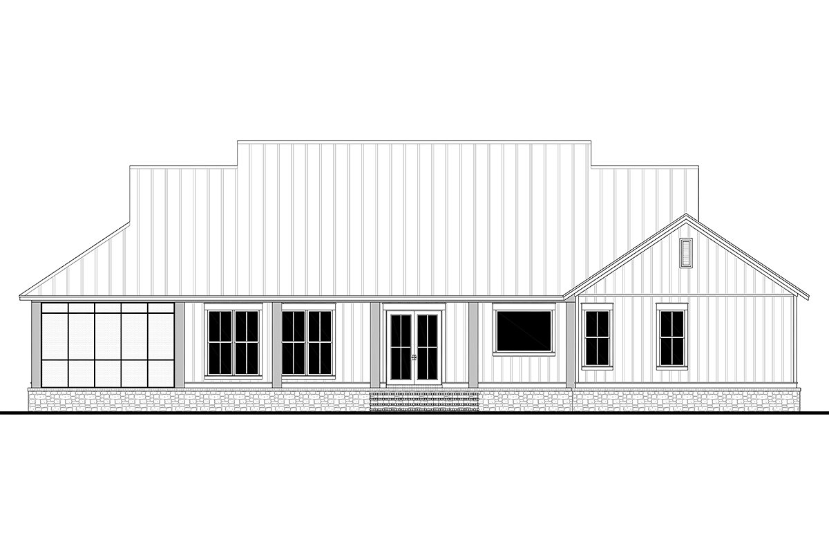 Country, Farmhouse, Southern, Traditional Plan with 2589 Sq. Ft., 3 Bedrooms, 3 Bathrooms, 2 Car Garage Picture 5