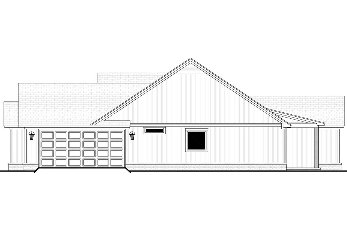 Country, Farmhouse, One-Story Plan with 1992 Sq. Ft., 4 Bedrooms, 2 Bathrooms, 2 Car Garage Picture 2