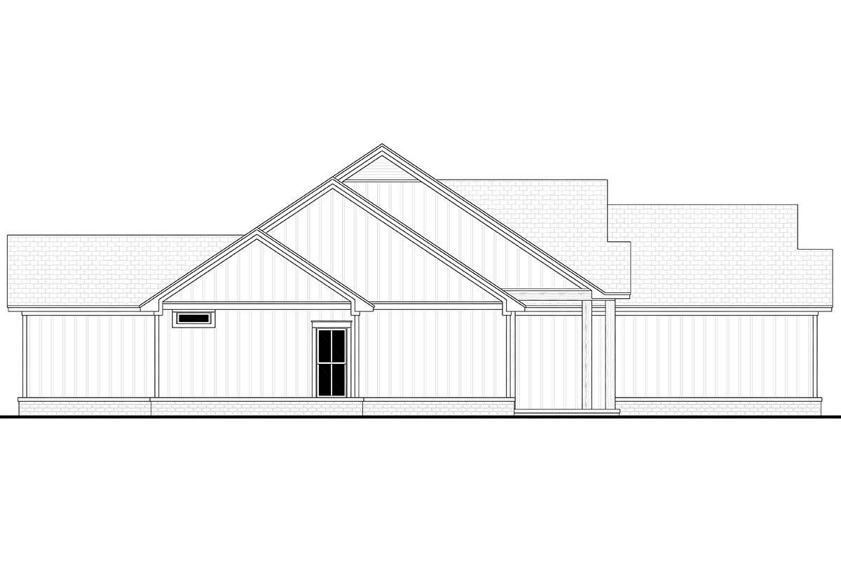 Country, Farmhouse, One-Story Plan with 1992 Sq. Ft., 4 Bedrooms, 2 Bathrooms, 2 Car Garage Picture 3