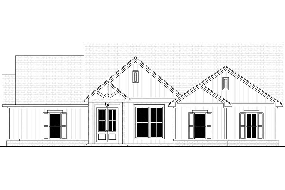 Country, Farmhouse, One-Story Plan with 1992 Sq. Ft., 4 Bedrooms, 2 Bathrooms, 2 Car Garage Picture 4