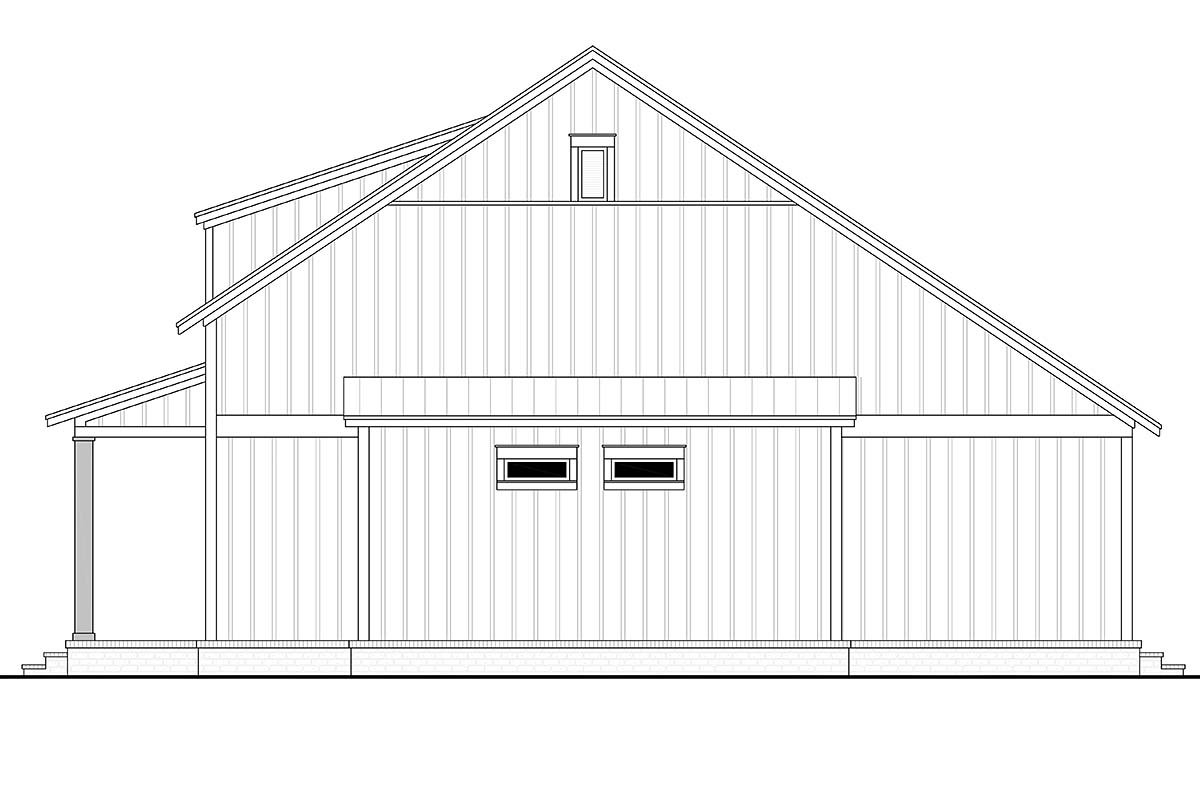 Cottage, Country, Farmhouse Plan with 1257 Sq. Ft., 2 Bedrooms, 2 Bathrooms Picture 2