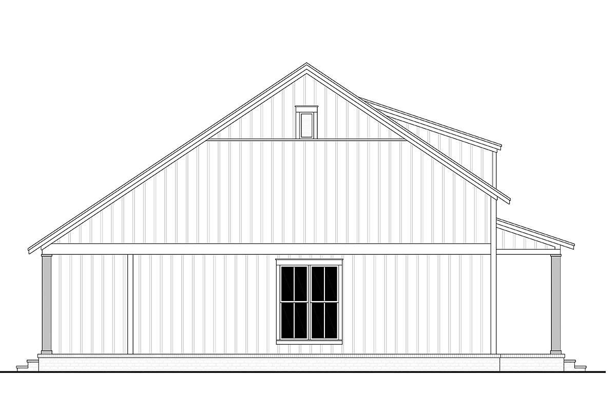 Cottage, Country, Farmhouse Plan with 1257 Sq. Ft., 2 Bedrooms, 2 Bathrooms Picture 3