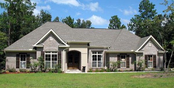 European, French Country, Traditional Plan with 2350 Sq. Ft., 3 Bedrooms, 3 Bathrooms, 2 Car Garage Picture 2
