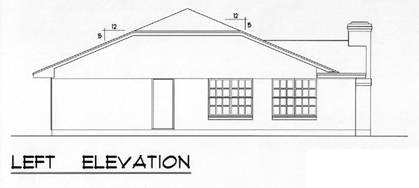 Country, Ranch, Traditional Plan with 1051 Sq. Ft., 3 Bedrooms, 2 Bathrooms, 1 Car Garage Picture 2