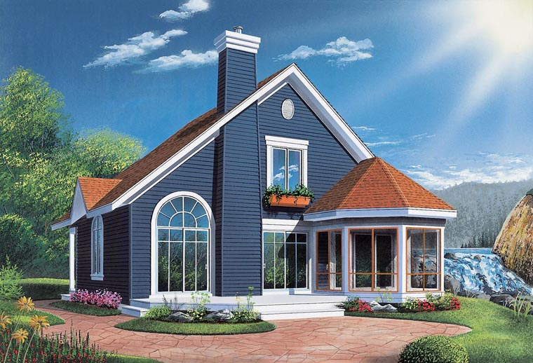 Bungalow, Contemporary, Victorian Plan with 1468 Sq. Ft., 3 Bedrooms, 2 Bathrooms Elevation