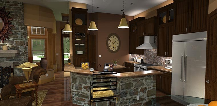Cottage, Craftsman, Tuscan Plan with 2091 Sq. Ft., 3 Bedrooms, 3 Bathrooms, 2 Car Garage Picture 11