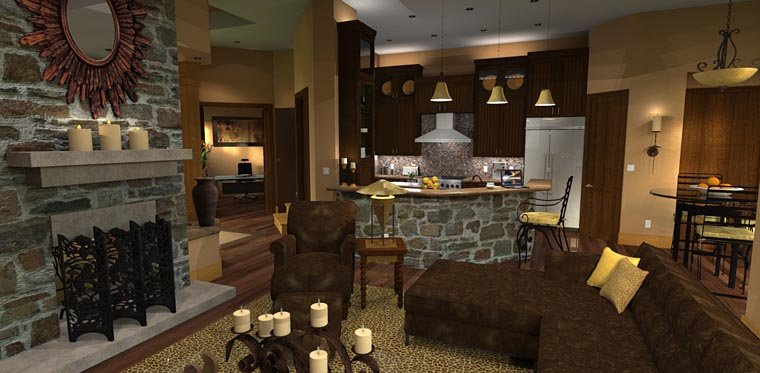 Cottage, Craftsman, Tuscan Plan with 2091 Sq. Ft., 3 Bedrooms, 3 Bathrooms, 2 Car Garage Picture 15