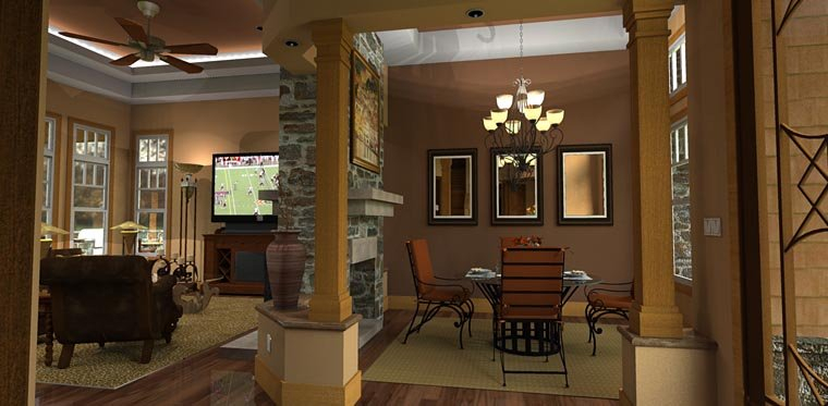 Cottage, Craftsman, Tuscan Plan with 2091 Sq. Ft., 3 Bedrooms, 3 Bathrooms, 2 Car Garage Picture 7