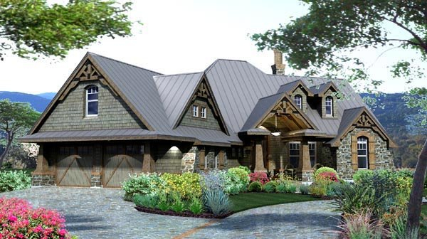 Craftsman, Tuscan Plan with 2106 Sq. Ft., 3 Bedrooms, 3 Bathrooms, 2 Car Garage Picture 2