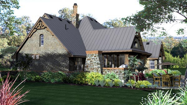 Craftsman, Tuscan Plan with 2106 Sq. Ft., 3 Bedrooms, 3 Bathrooms, 2 Car Garage Picture 4