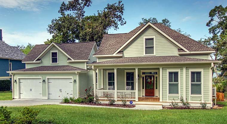 Country, Southern, Traditional Plan with 2540 Sq. Ft., 4 Bedrooms, 3 Bathrooms, 2 Car Garage Elevation