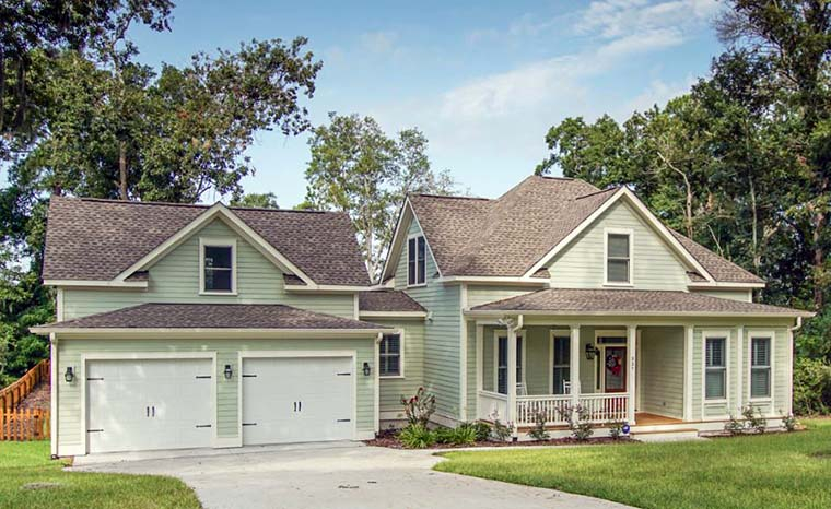 Country, Southern, Traditional Plan with 2540 Sq. Ft., 4 Bedrooms, 3 Bathrooms, 2 Car Garage Picture 3