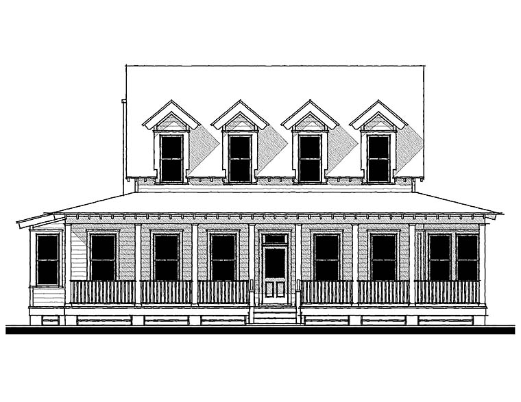 Country, Farmhouse, Southern Plan with 3343 Sq. Ft., 3 Bedrooms, 4 Bathrooms Picture 2