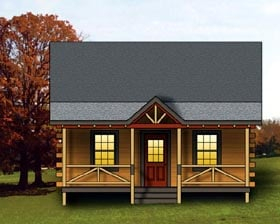 Plan Number 74108 - 744 Square Feet