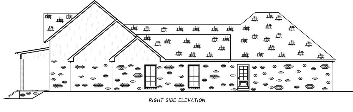 Country, Farmhouse, Traditional Plan with 2513 Sq. Ft., 4 Bedrooms, 3 Bathrooms, 3 Car Garage Picture 2