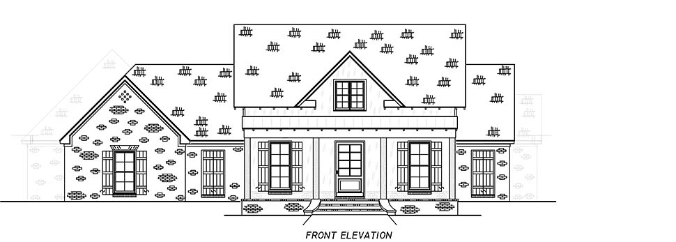 Country, Farmhouse, Traditional Plan with 2513 Sq. Ft., 4 Bedrooms, 3 Bathrooms, 3 Car Garage Picture 4