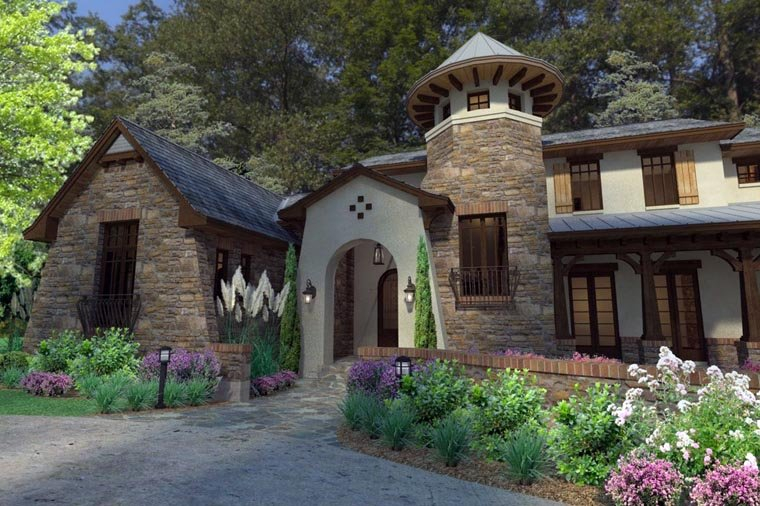 Craftsman, Tuscan Plan with 3927 Sq. Ft., 3 Bedrooms, 4 Bathrooms, 2 Car Garage Picture 2