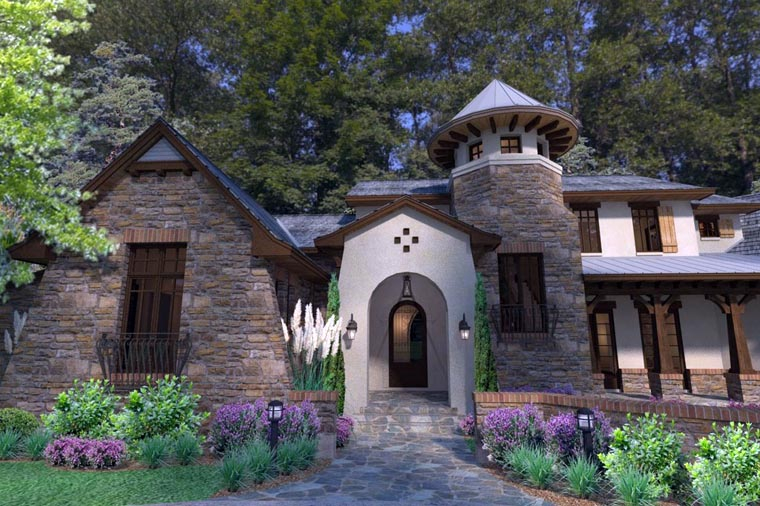 Craftsman, Tuscan Plan with 3927 Sq. Ft., 3 Bedrooms, 4 Bathrooms, 2 Car Garage Picture 3