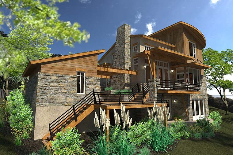 Contemporary, Cottage, Craftsman, Modern, Tuscan Plan with 985 Sq. Ft., 2 Bedrooms, 2 Bathrooms, 1 Car Garage Picture 4